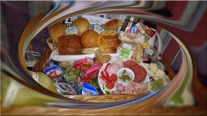 Ontbijtmand aan huis geleverd regio wetteren